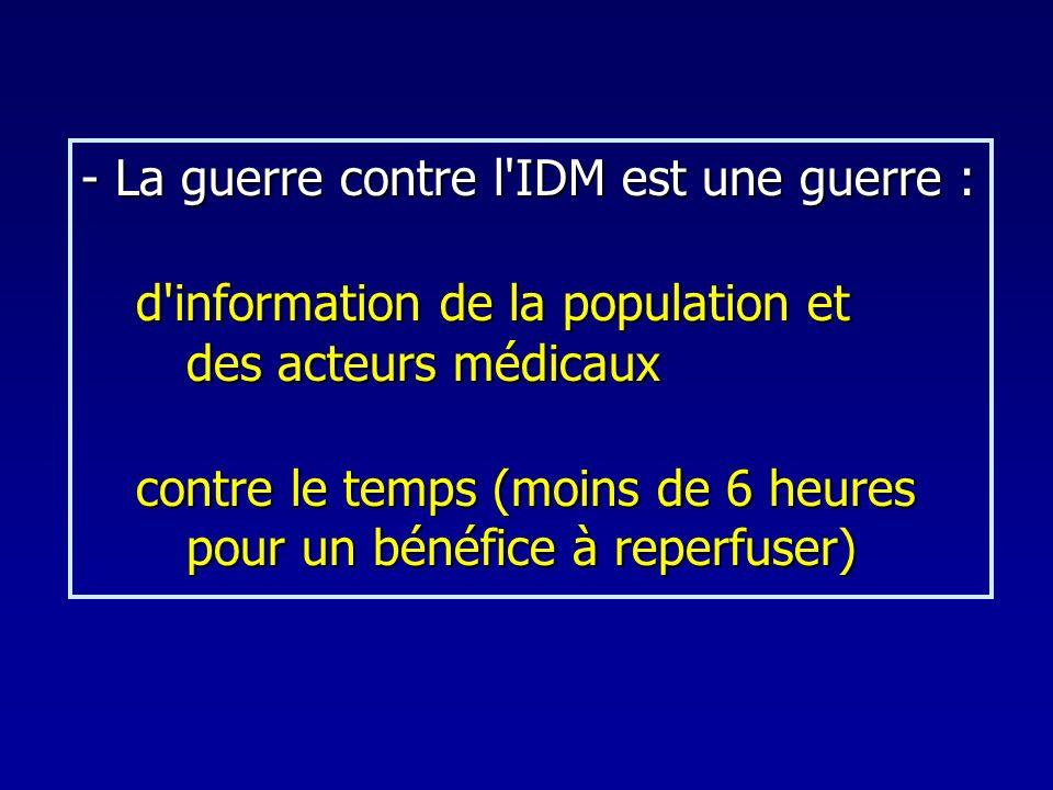 - La guerre contre l IDM est une guerre :