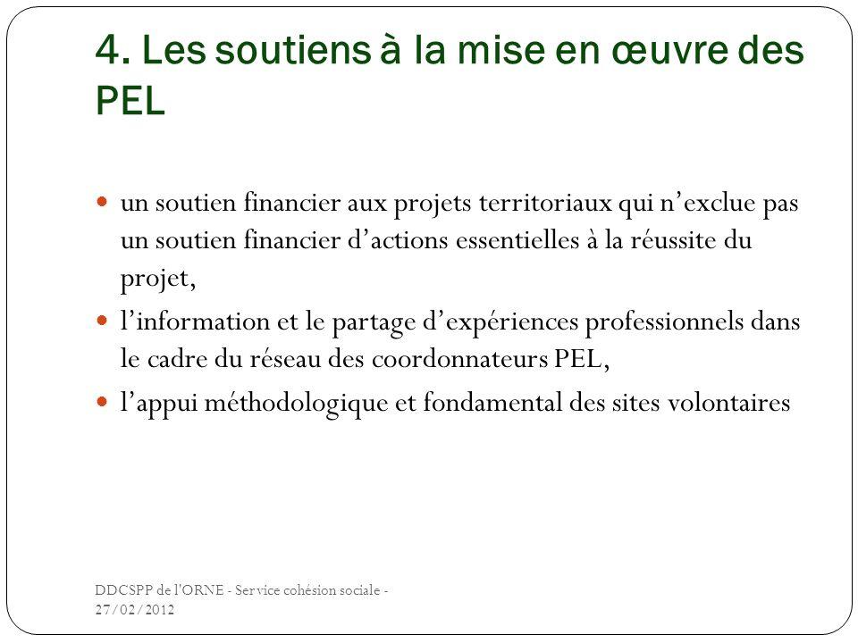 4. Les soutiens à la mise en œuvre des PEL