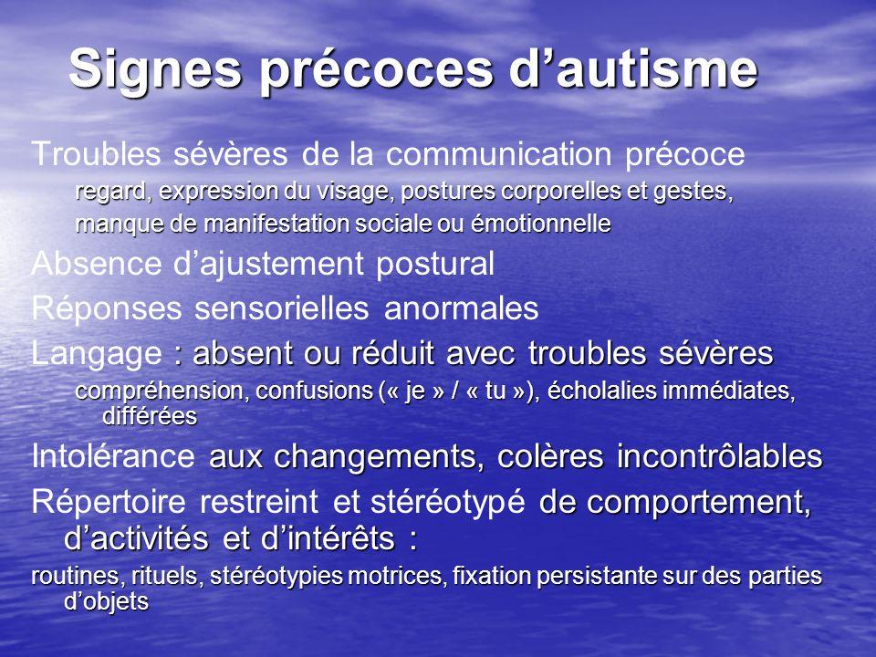 Signes précoces d'autisme