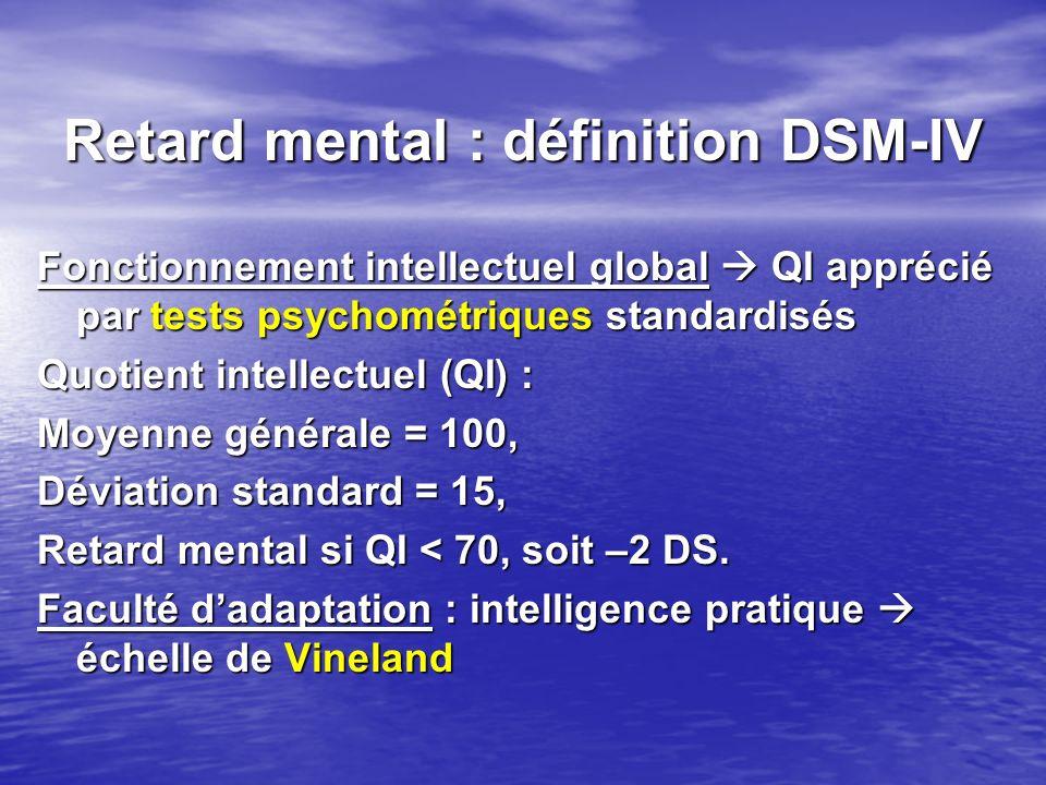 Retard mental : définition DSM-IV