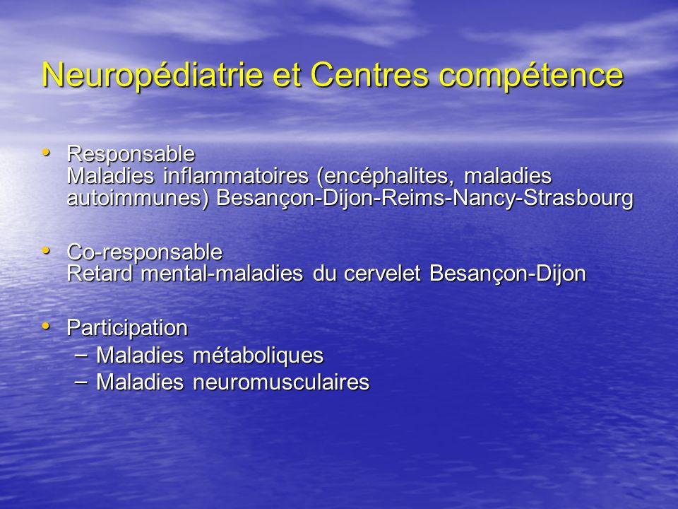Neuropédiatrie et Centres compétence