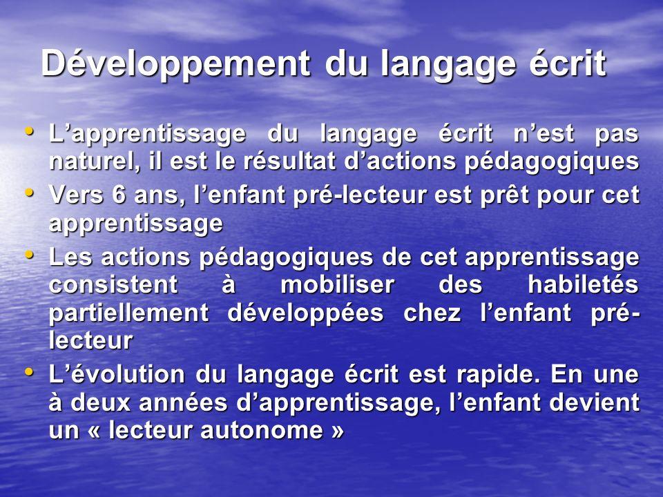 Développement du langage écrit