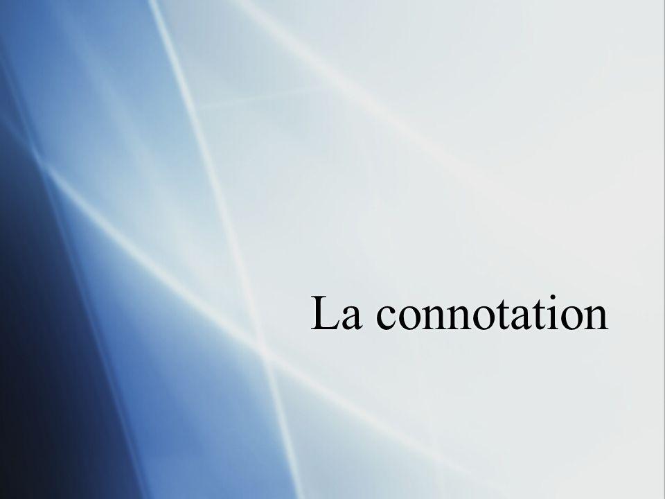 La connotation