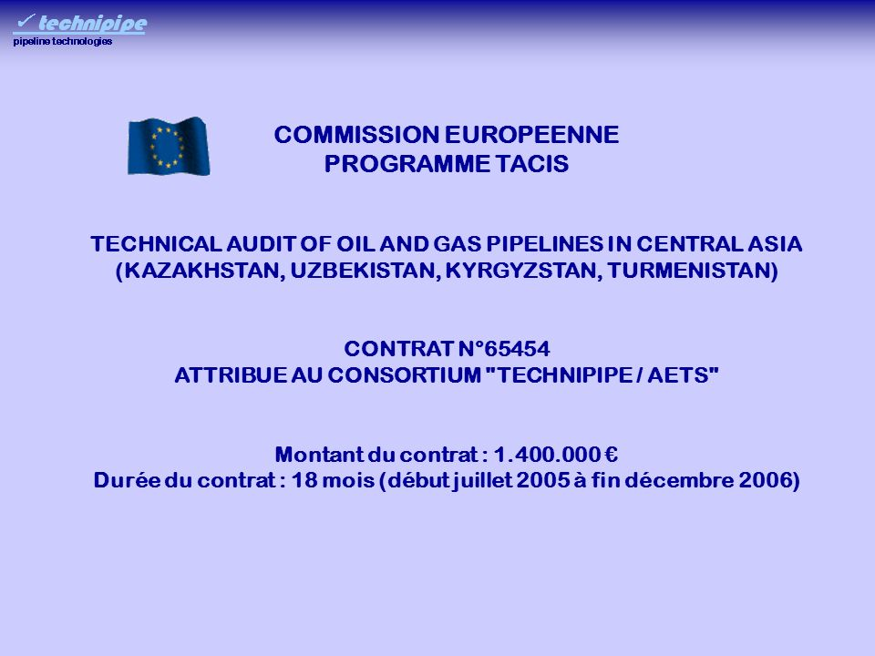 COMMISSION EUROPEENNE PROGRAMME TACIS