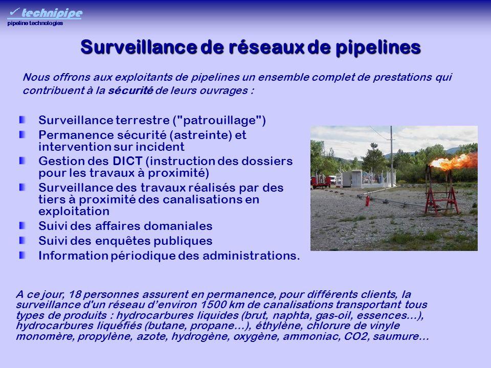 Surveillance de réseaux de pipelines