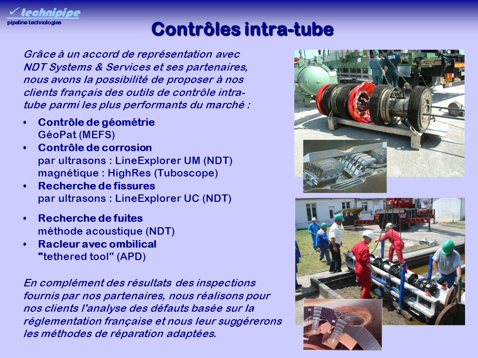 Contrôles intra-tube