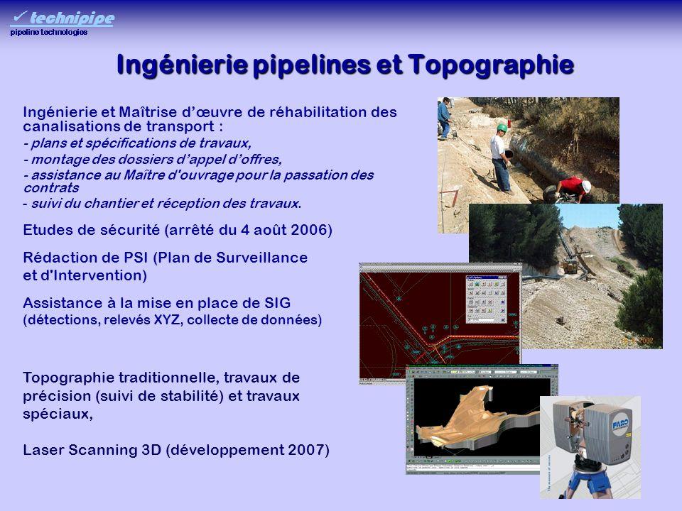 Ingénierie pipelines et Topographie