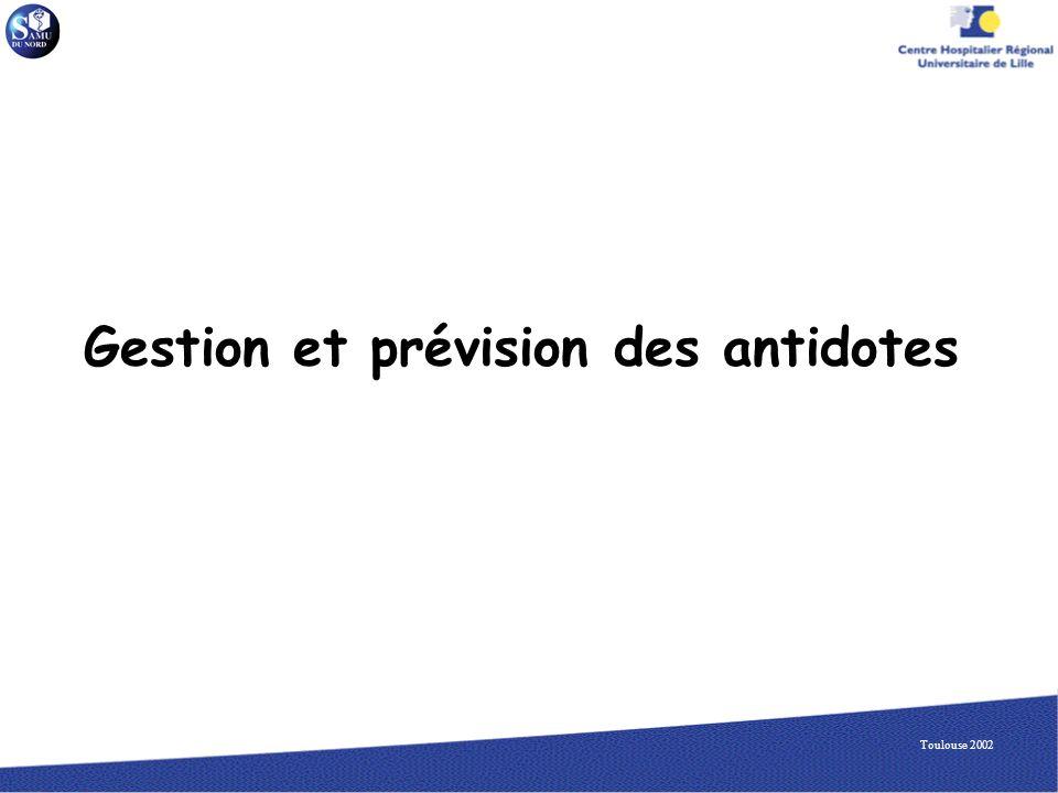 Gestion et prévision des antidotes
