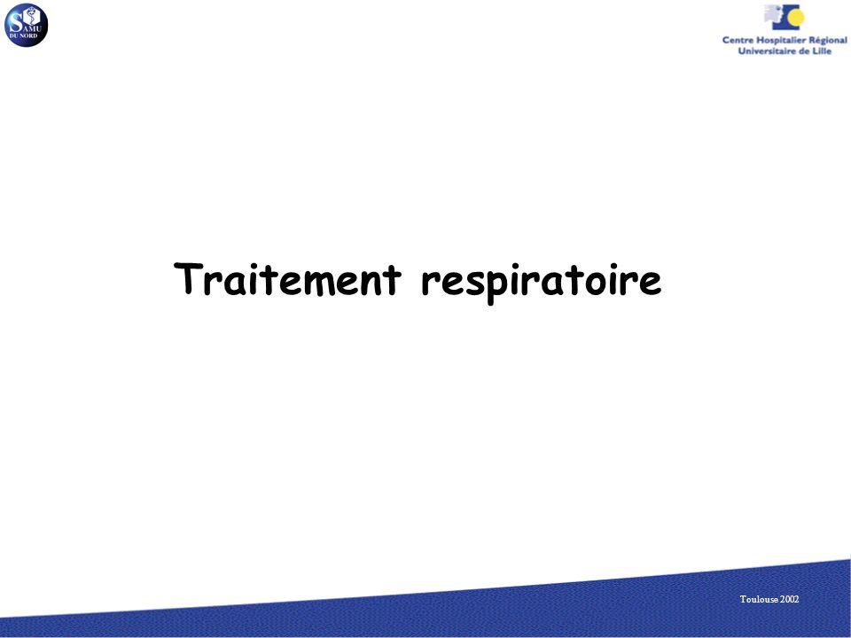 Traitement respiratoire
