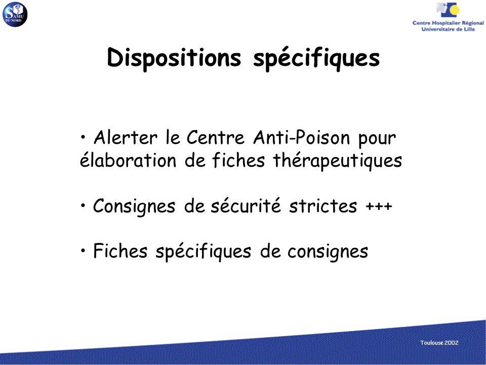 Dispositions spécifiques