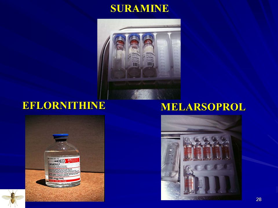 SURAMINE EFLORNITHINE MELARSOPROL