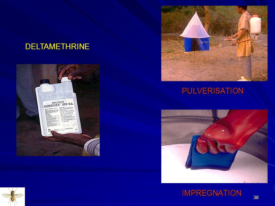 DELTAMETHRINE PULVERISATION IMPREGNATION