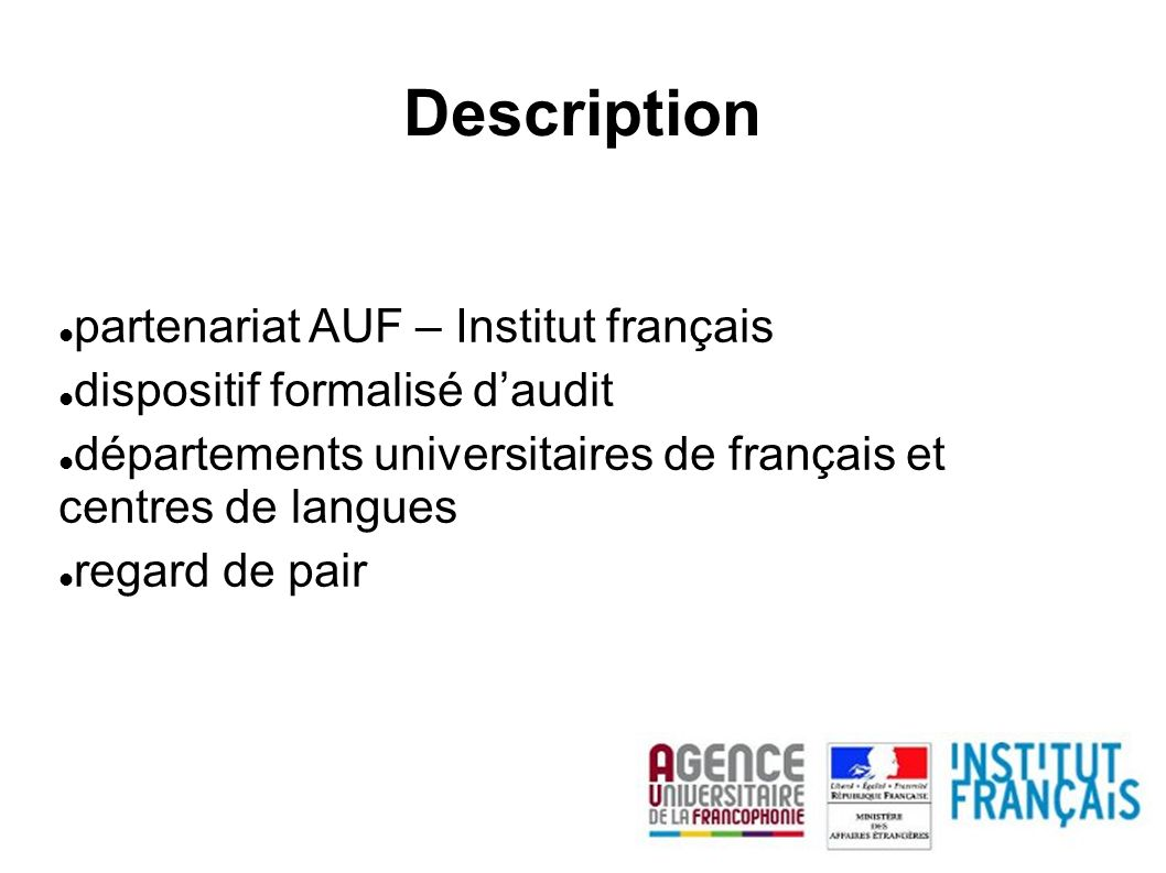Description partenariat AUF – Institut français