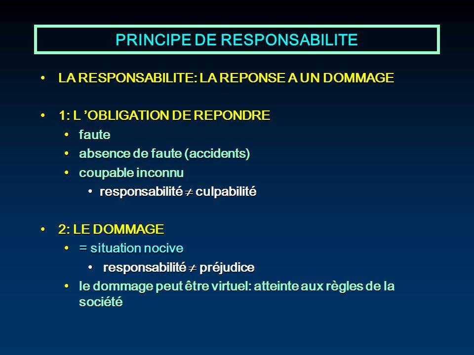 PRINCIPE DE RESPONSABILITE