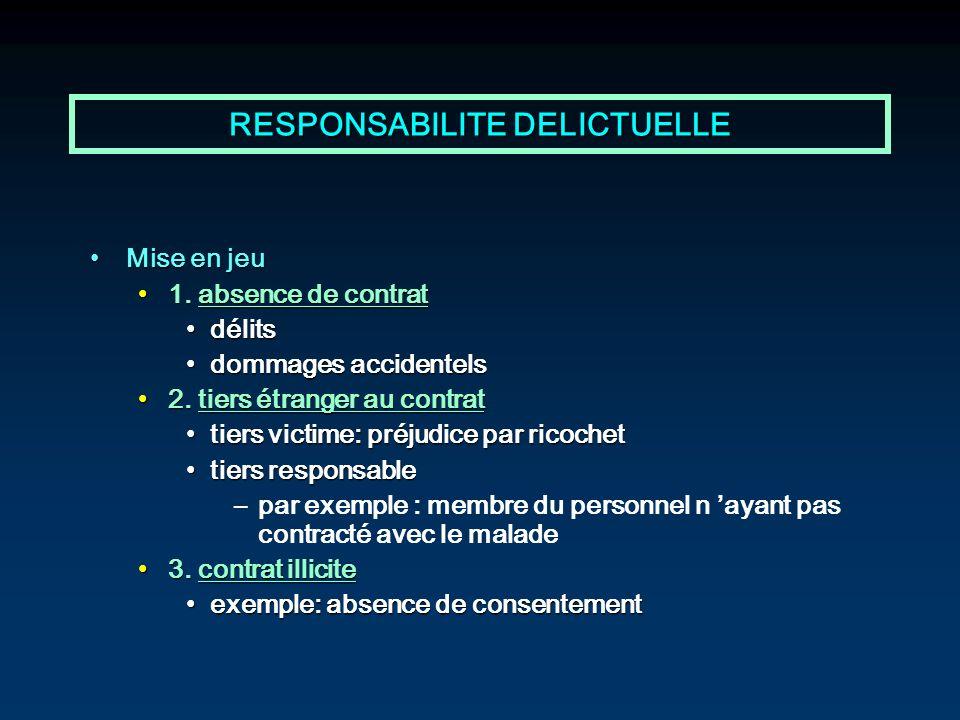 RESPONSABILITE DELICTUELLE