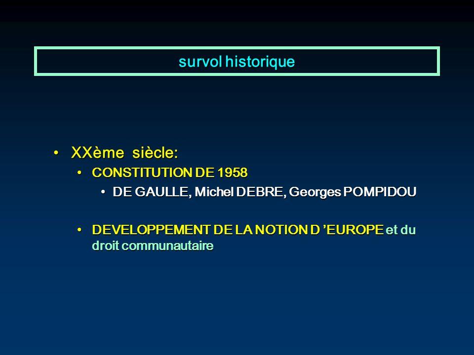 survol historique XXème siècle: CONSTITUTION DE 1958