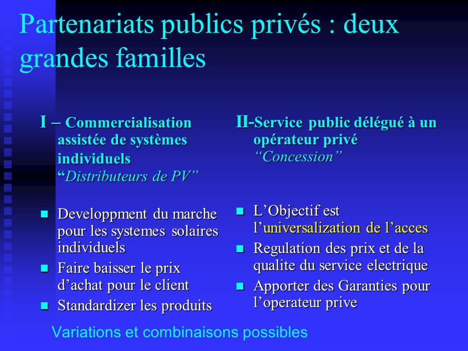 Partenariats publics privés : deux grandes familles