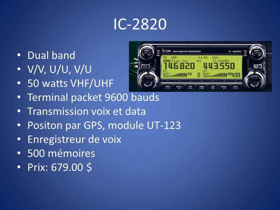 IC-2820 Dual band V/V, U/U, V/U 50 watts VHF/UHF