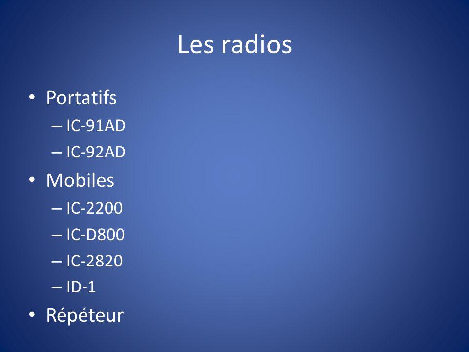 Les radios Portatifs Mobiles Répéteur IC-91AD IC-92AD IC-2200 IC-D800
