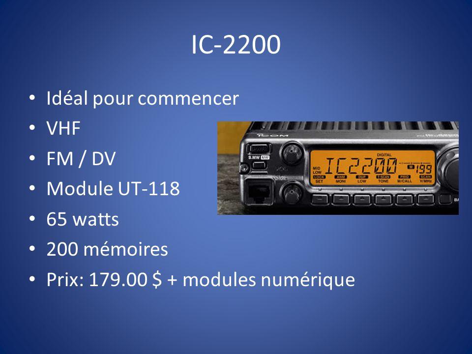 IC-2200 Idéal pour commencer VHF FM / DV Module UT-118 65 watts