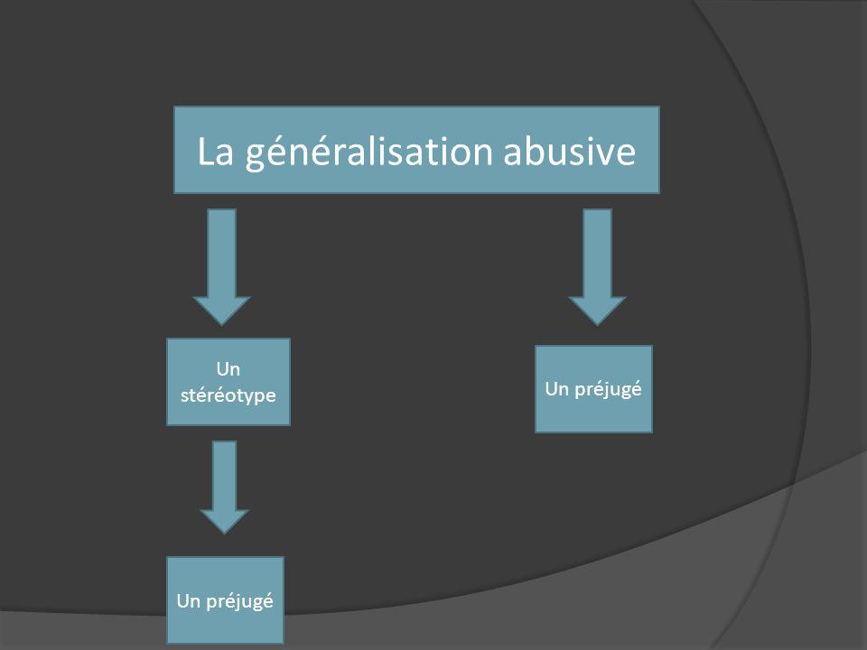 La généralisation abusive