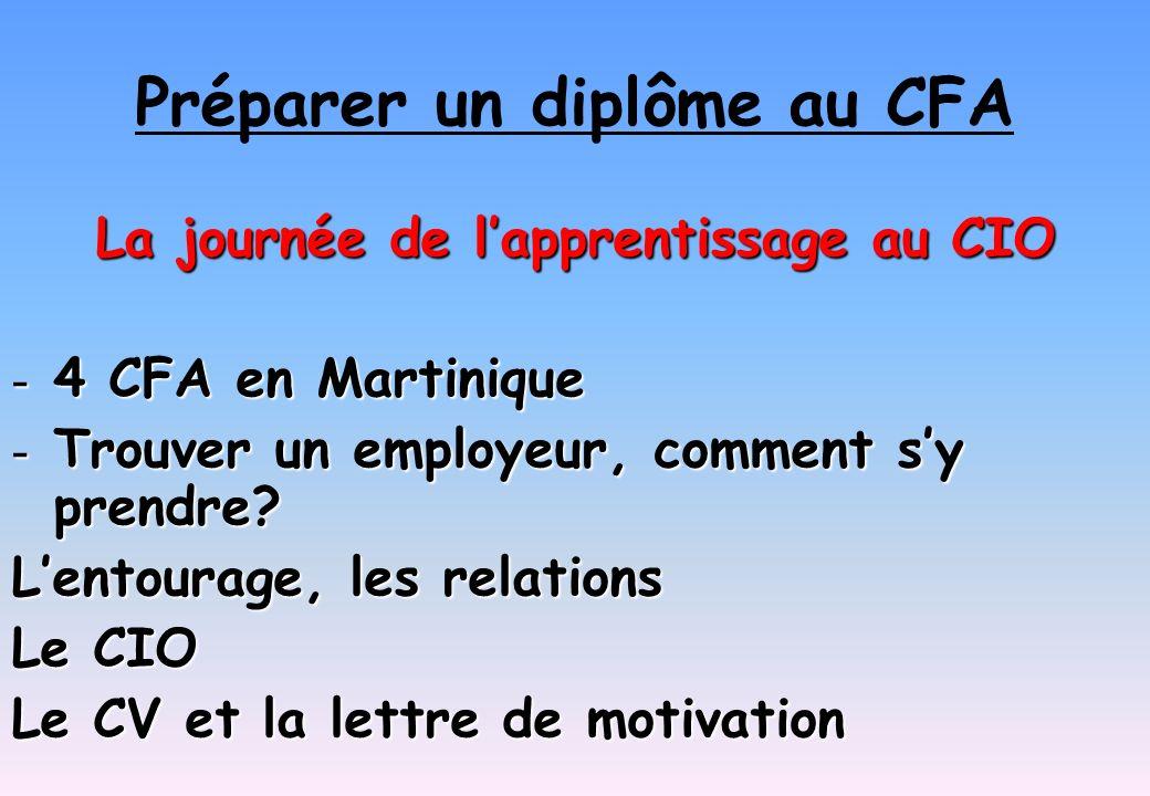 Préparer un diplôme au CFA