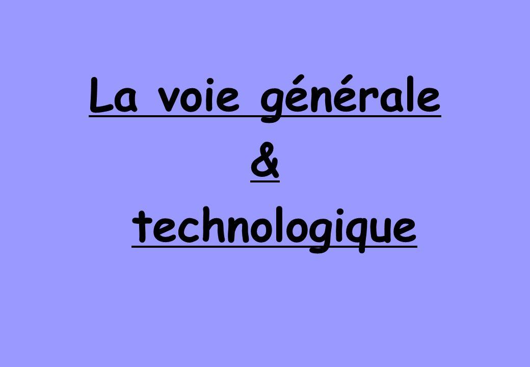 La voie générale & technologique