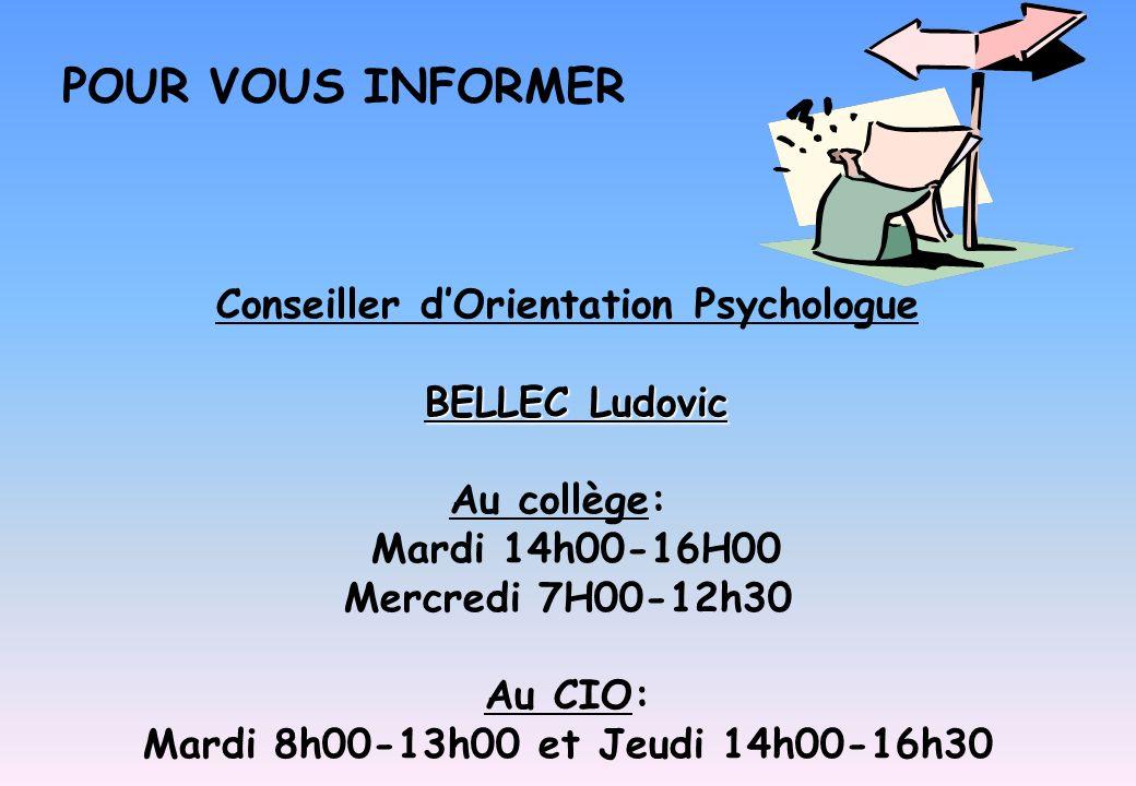 Conseiller d'Orientation Psychologue