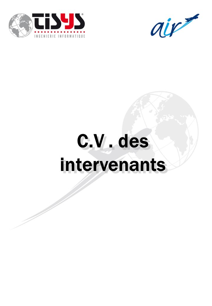 C.V . des intervenants