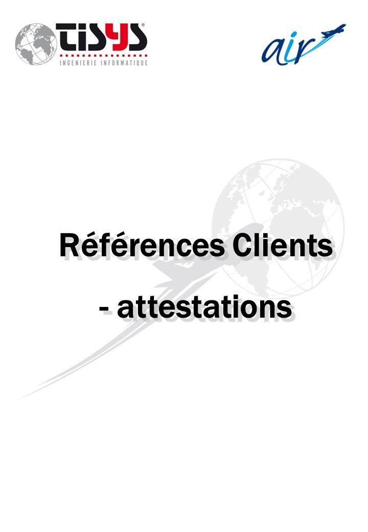 Références Clients - attestations
