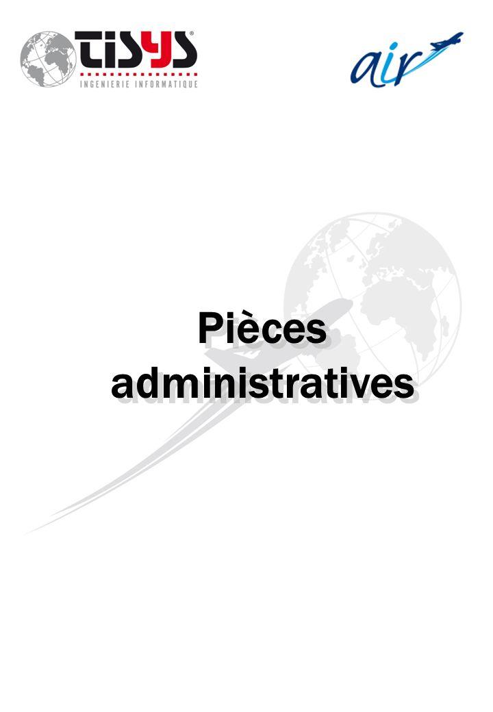 Pièces administratives