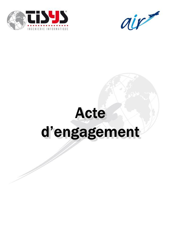 Acte d'engagement
