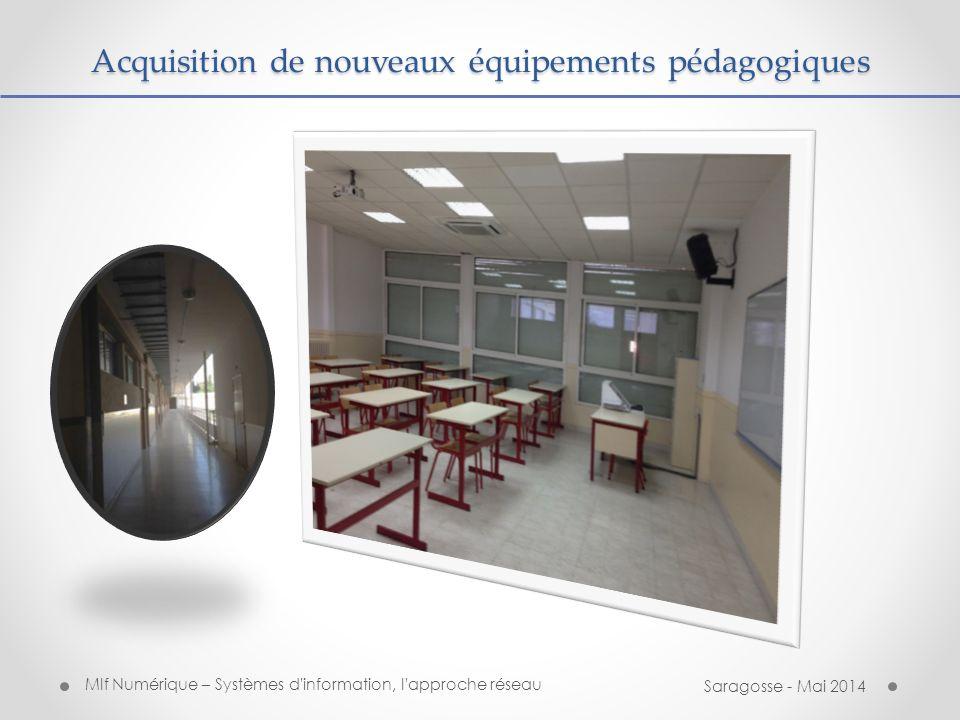 Acquisition de nouveaux équipements pédagogiques