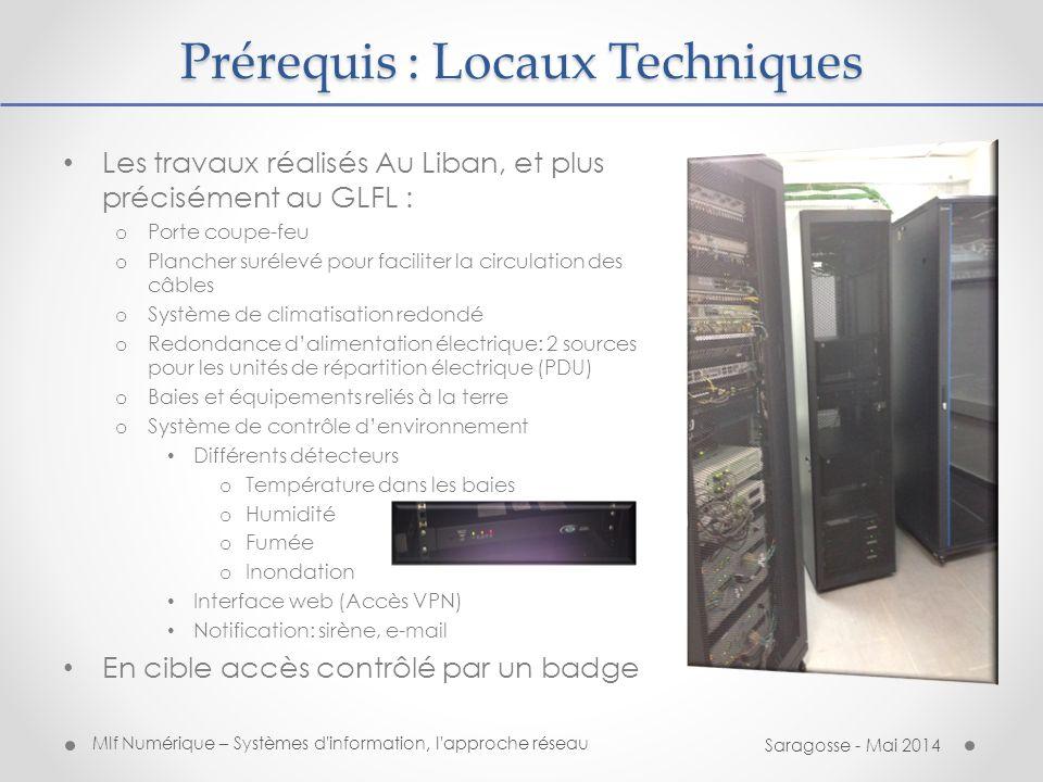 Prérequis : Locaux Techniques