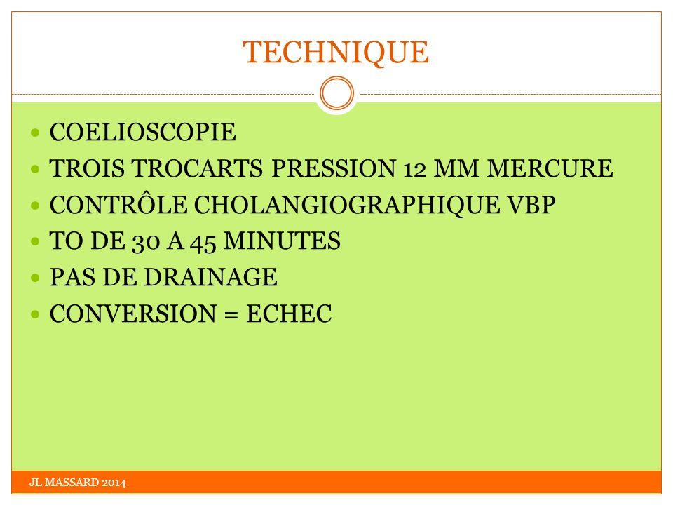 TECHNIQUE COELIOSCOPIE TROIS TROCARTS PRESSION 12 MM MERCURE