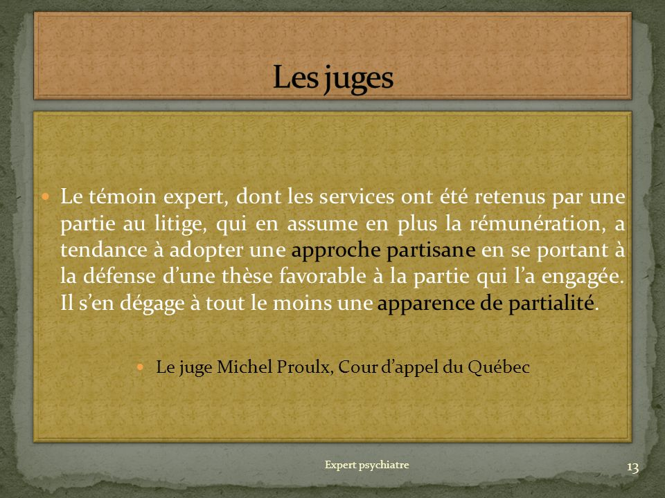 Le juge Michel Proulx, Cour d'appel du Québec
