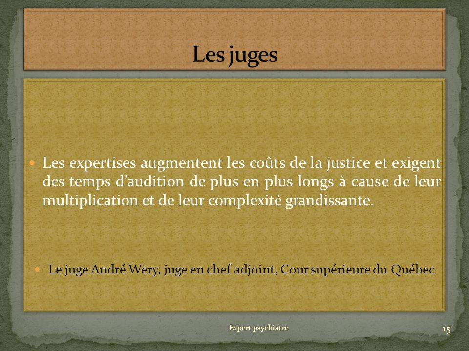 Le juge André Wery, juge en chef adjoint, Cour supérieure du Québec
