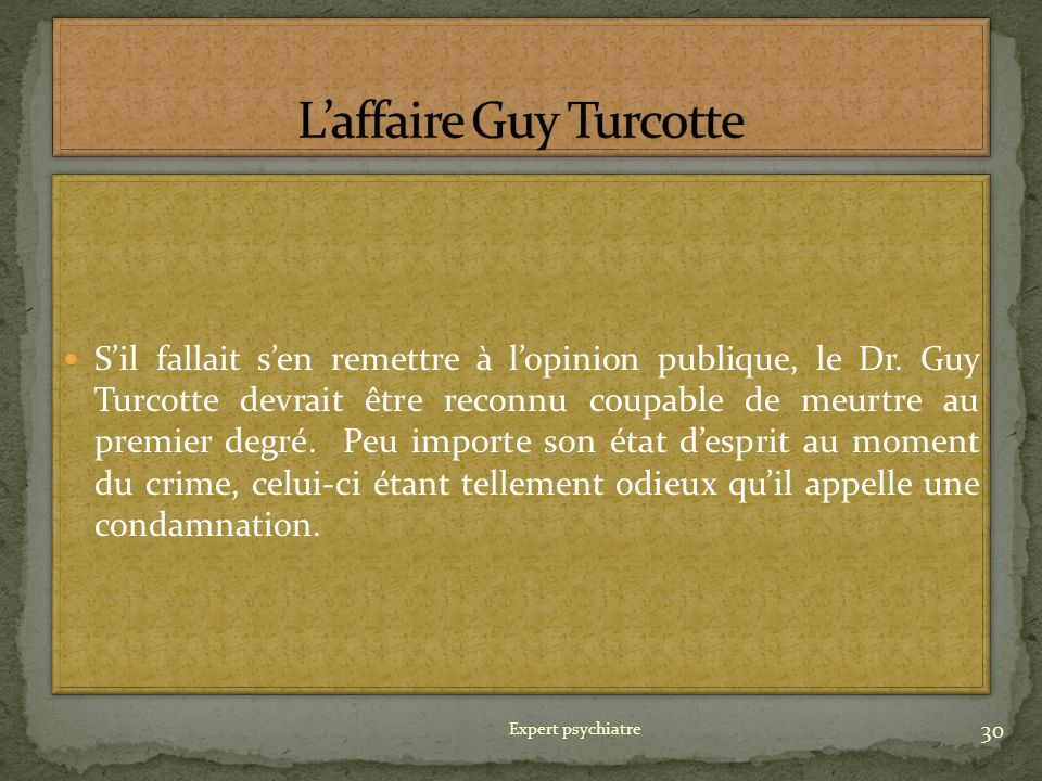L'affaire Guy Turcotte