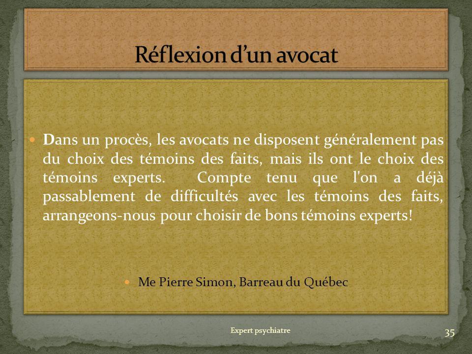 Me Pierre Simon, Barreau du Québec