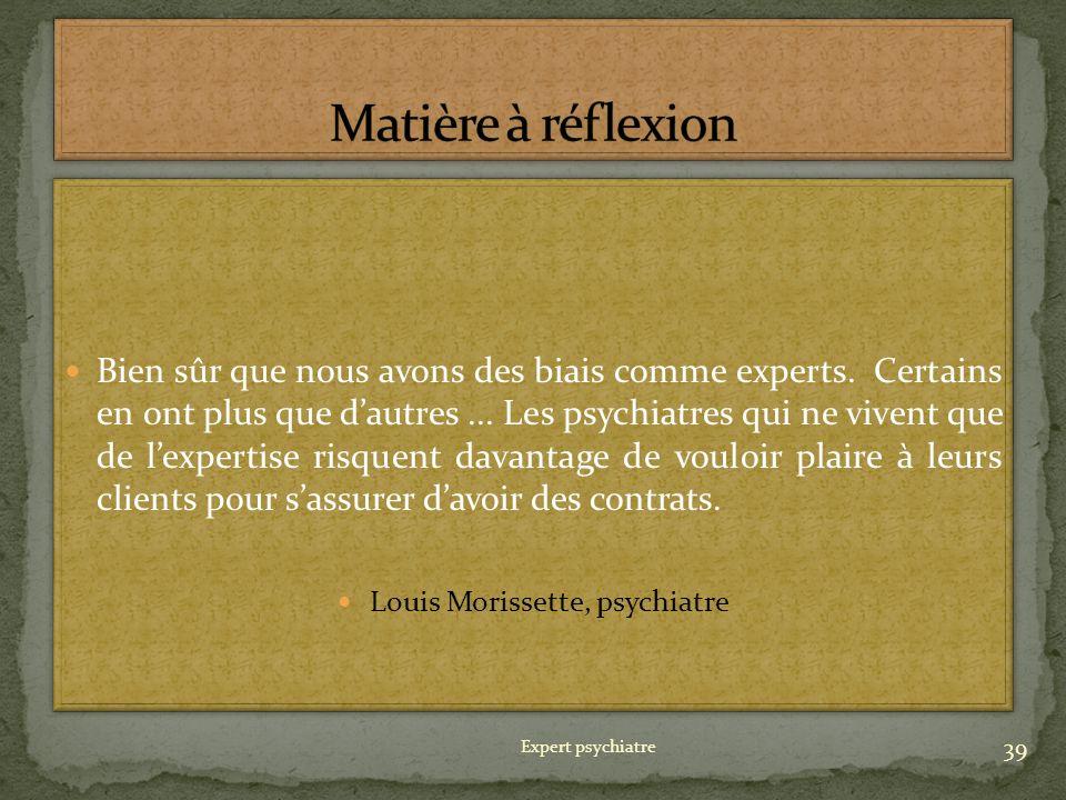 Louis Morissette, psychiatre