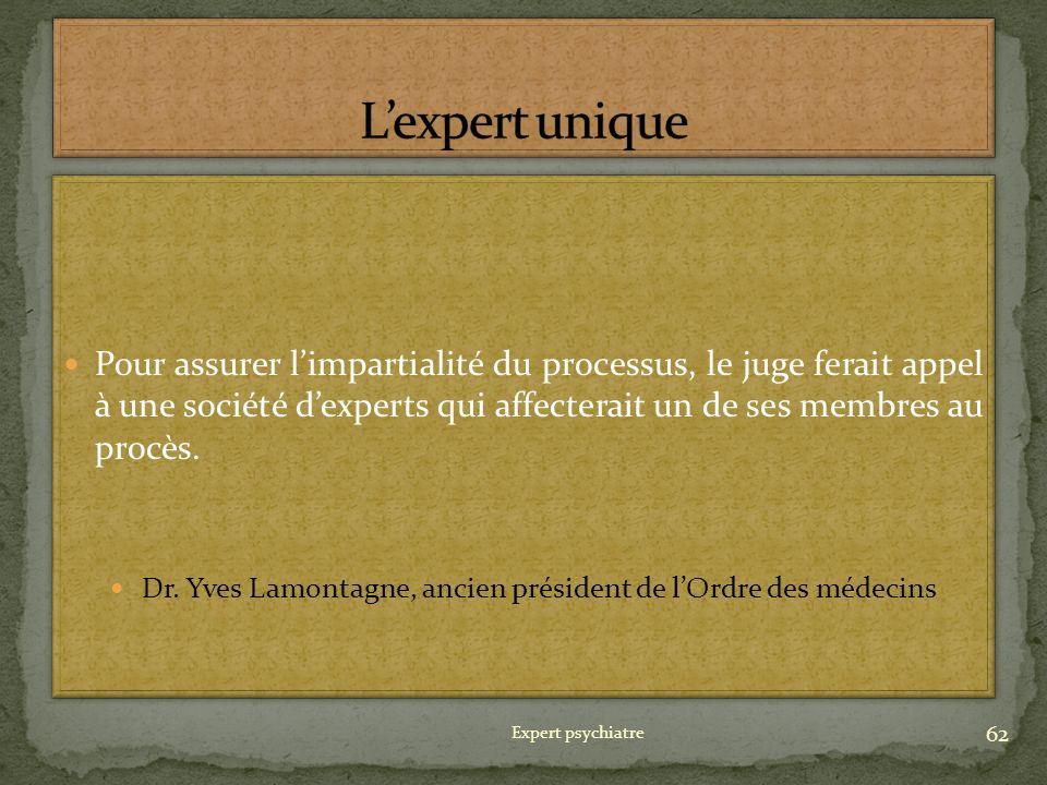 Dr. Yves Lamontagne, ancien président de l'Ordre des médecins