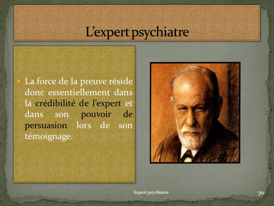 L'expert psychiatre