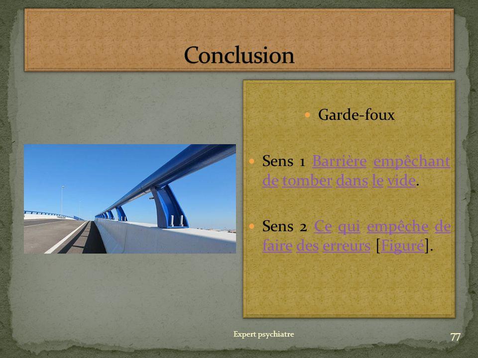 Conclusion Garde-foux