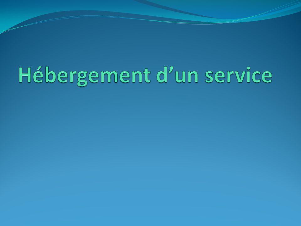 Hébergement d'un service