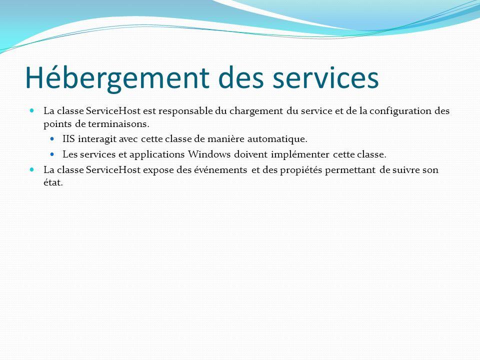 Hébergement des services