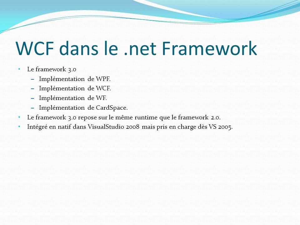 WCF dans le .net Framework