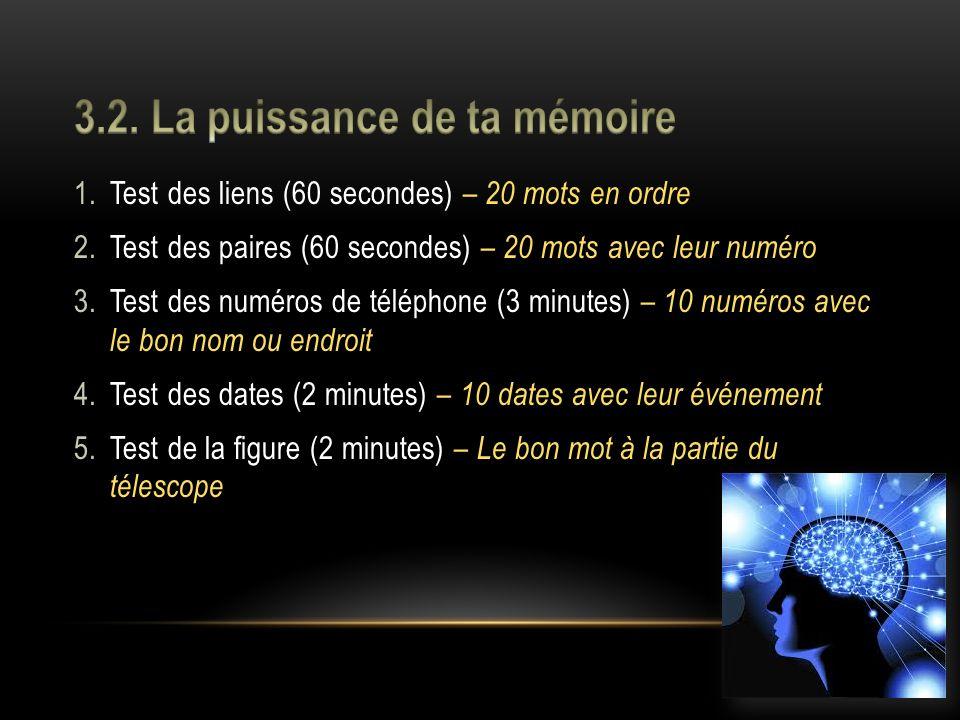3.2. La puissance de ta mémoire
