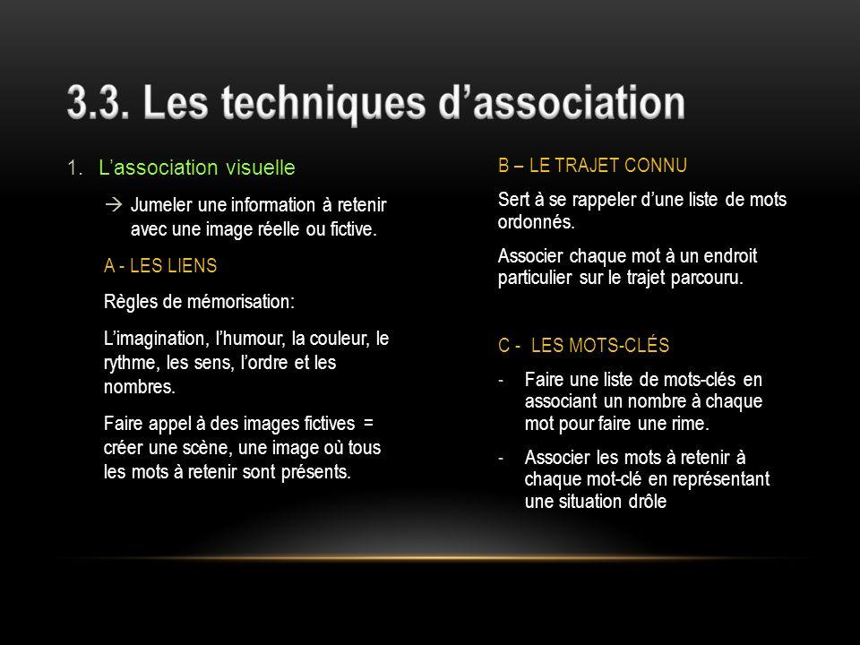3.3. Les techniques d'association