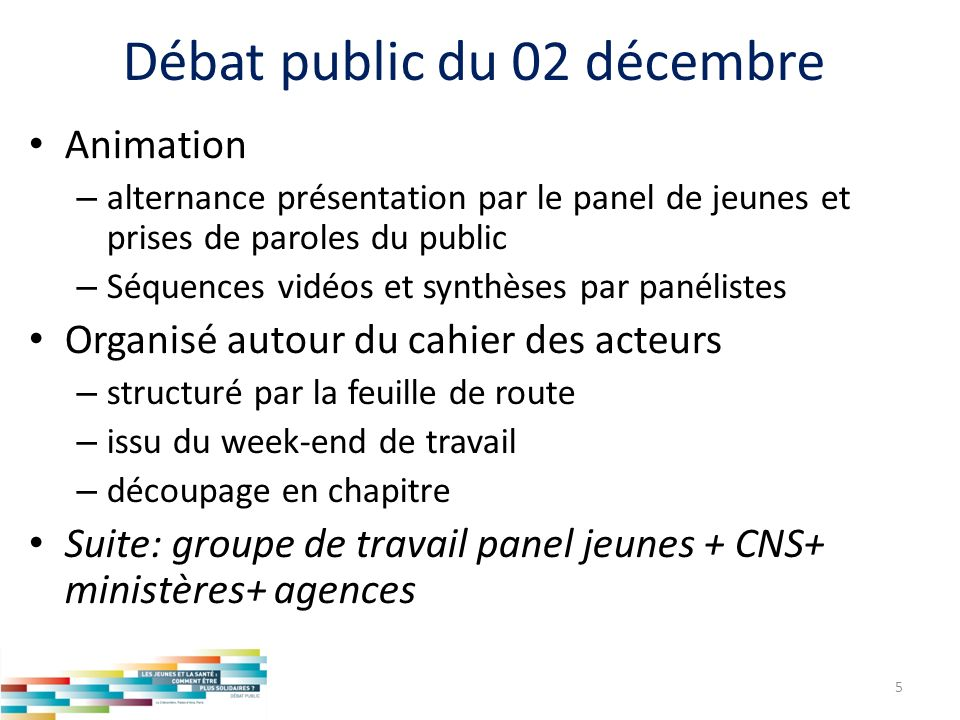 Débat public du 02 décembre