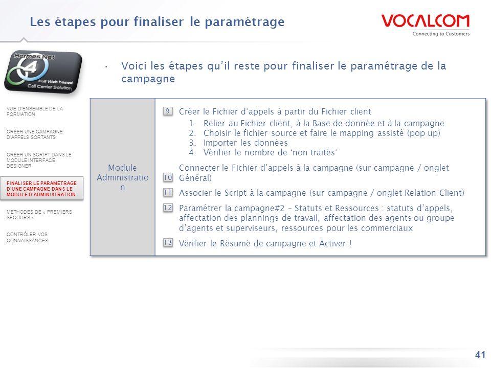 9 - Créer le Fichier d'appels : Principes de fonctionnement (1/2)
